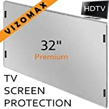 32 inch Vizomax TV Screen Protector for LCD, LED, OLED & QLED 4K HDTV