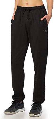 BALEAF Women's Running Thermal Fleece Pants Zipper Pocket Athletic Joggers Sweatpants Adjustable Ankle Winter Track Pants 5
