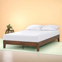 Zinus Marissa 12 Inch Deluxe Wood Platform Bed / No Box Spring Needed / Wood Slat Support / Antique Espresso Finish…