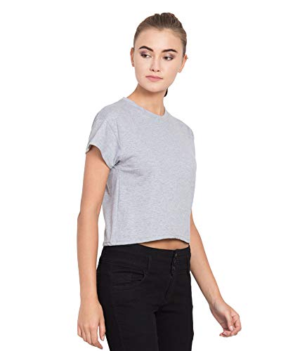 Changrobe women's grey cotton half sleeves crop top, stylish tops for women (cr-c-top-h-gry) | latest news live | find the all top headlines, breaking news for free online april 9, 2021