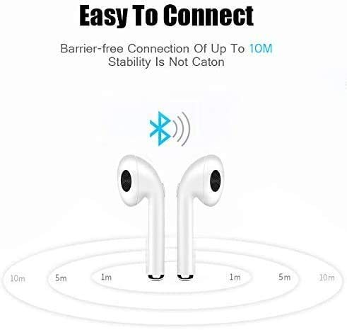 31Cks65CuOL MARVIK Growth Growth Bluetooth 5.zero True Wi-fi Earbuds, 5 H Cyclic Playtime Waterproof TWS Headphones with Charging Case and mic, in-Ear Stereo Earphones Headset