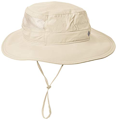 Columbia Unisex Bora Bora II Booney Hat, Moisture Wicking Fabric, UV Sun Protection, Fossil, One Size