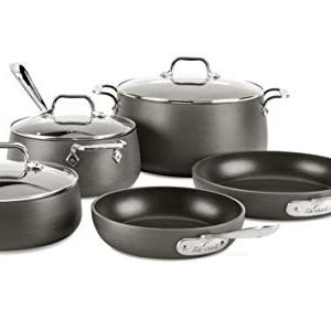 All-Clad E785SB64 HA1 Hard Anodized Nonstick Dishwasher Safe PFOA Free Cookware Set 1