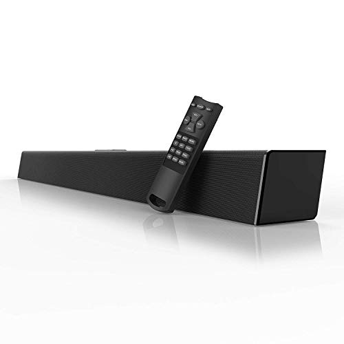 80 Watt Sound Bar, MEGACRA Soundbar 38-Inch 6 Drivers Wired and Wireless Home Theater Surround Sound Speaker for TV ( IR Learning Remote, Optical, Coaxial, DSP, Bass & Treble Adjustable)