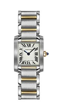Cartier Women's W51007Q4 Tank Francaise Stainless Steel and 18K Gold Watch