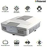 Polaroid Ultra Short Throw Projector U-100: 30,000-hour LED Light Source, Android OS - Home Theater Projector TV, Supports Gaming, Dual-Band WiFi, Video Streaming, 4K Compatible with 0.2:1 Throw Ratio