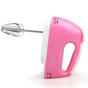 Electric Egg Beater – Home Hand-held Small Automatic Cake Baking Mixer Mini Cream Hairener Tool/220V-100W (Color : Pink) 31DbZH05DxL