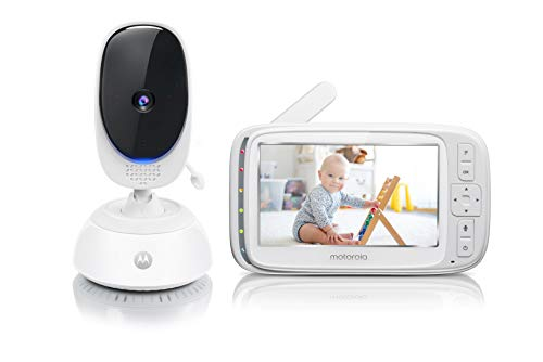 Motorola Comfort 75 Video Baby and Home Monitor, 5' LCD Color Screen Display with Remote Pan Scan, Two-Way Communication, Infrared Night Vision, 5 Soothing Lullabies