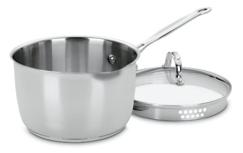 Cuisinart 7193-20P Chef's Classic Stainless 3-Quart Cook and Pour Saucepan with Cover