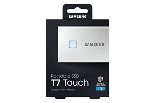 Samsung Galaxy Z Flip (Black, 8GB RAM, 256GB Storage)-Samsung T7 Touch 1TB USB 3.2 Gen 2 (10Gbps, Type-C) External Solid State Drive (Portable SSD) Silver (MU-PC1T0B) 7