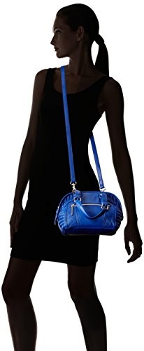 31E7ubG9m3L Pebbled-leather bag in satchel silhouette featuring moto-inspired quilting at sides Removable cross-body strap