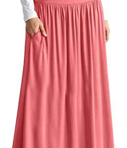 Womens Long Maxi Skirt with Pockets Reg and Plus Size - Made in The USA 18 Fashion Online Shop gifts for her gifts for him womens full figure