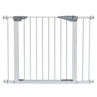 """LEMKA Walk Thru Gate,Auto-Close Safety Gate Metal Expandable Pet Gate Includes 2.8"""" & 5.5"""" Extension for Pressure Mount for Stairs,Doorways,Fits Spaces Between 31"""" to 42"""" Wide 30"""" High"""