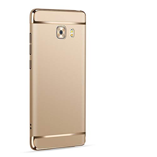 Explocart Electroplated Luxury 3-in-1 Slim Fit 360 Protection Hybrid Hard Bumper Back Case Cover for Samsung Galaxy C9 Pro - Gold 1