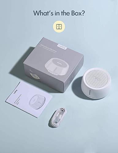 Macchina di Rumore Bianco, Roffie Macchina Per il Sonno 30 Suoni, Naturali Terapia del Suono, Funzione Timer, White…