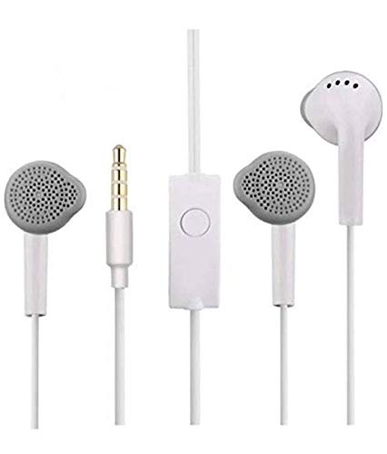 Unity Earphones with Microphone for All Smart Phone for 2, J2, M10, M20, M30, J7, J7 Max, J6, J6 Pro A10,A20,A30,A50,A70,A10S,A20s(White, in The Ear) All Smart Phone 7
