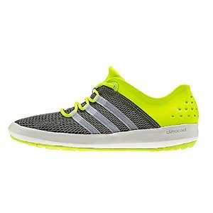 adidas outdoor Climacool Boat Pure Shoe - Men's Base Green/Chalk White/Semi Solar Yellow 8