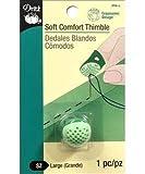 Dritz 204-L Soft Comfort Thimble, Large, Green