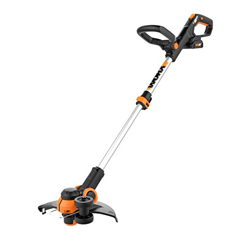 Worx WG163 GT 3.0 20V Cordless Grass Trimmer/Edger with Command Feed, 12', 2 Batteries and Charger Included