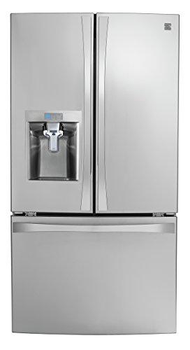Kenmore 4675043 Smart French Door Bottom-Mount Refrigerator, 24 cu. ft, Stainless Steel