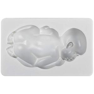 GIANT Large NewBorn Baby Sleeping face down Food Grade Fondant Gunpaste Icing Mould, Great for christening baby shower cake decoration cupcake topper, non stick Sugar paste, Chocolate, Fondant, Butter, Resin, Cabochon, Polymer Clay, fimo, gum paste, PMC, Wax, Candle, Soap Mold,175g 31GfVROK14L