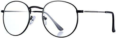 Pro Acme Classic Round Metal Clear Lens Glasses Frame Unisex Circle Eyeglasses