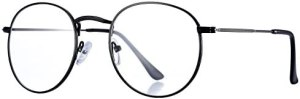 Pro Acme Classic Round Metal Clear Lens Glasses Frame Unisex Circle Eyeglasses