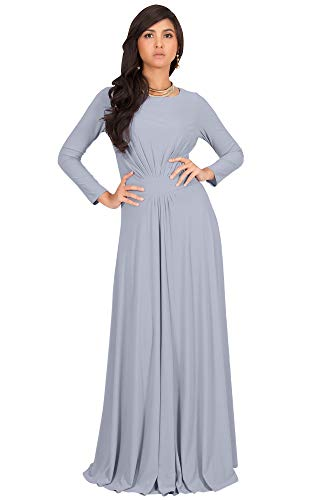 61FKdji%2B2wL PLUS SIZE - This great maxi dress design is also available in plus sizes STYLE - Comfortable and well-fitted long sleeved maxi dresses that can be dressed up or down to suit your mood OCCASION - Perfect casual maxi dresses with sleeves or understated chic long sleeved gowns