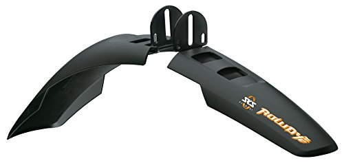SKS Rowdy Front and Rear Bicycle Fender Set (Black, 20-24 Inch)