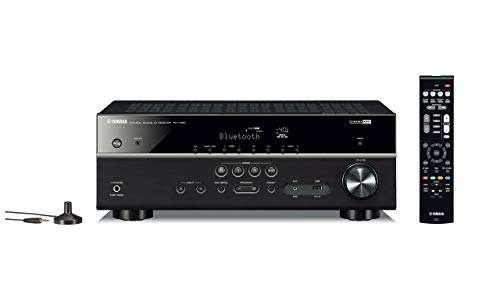 Yamaha RX-V385 5.1-Channel 4K Ultra HD AV Receiver with Bluetooth (Renewed)