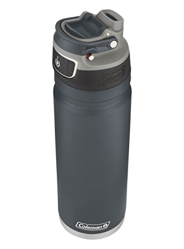 Coleman FreeFlow AUTOSEAL Insulated Stainless Steel Water Bottle, Slate, 24 oz.