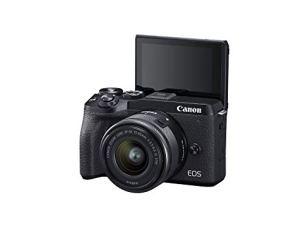 Canon-EOS-M6-Mark-II-Mirrorless-camera-for-Vlogging-15-45mm-lens-CMOS-APS-C-Sensor-Dual-Pixel-CMOS-Auto-Focus-Wi-FiBluetooth-and-4K-Video