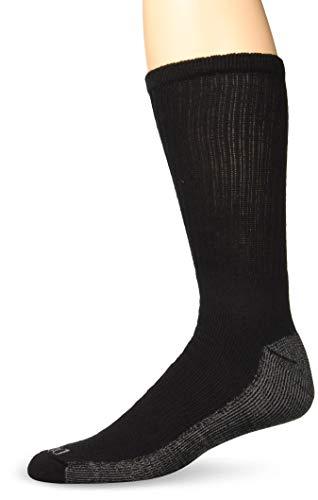 Dickies Men's Multi-Pack Dri-Tech Moisture Control Crew Socks, Black (6 Pair), Shoe Size: 12-15