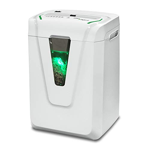 Kobra Hybrid-S Cross-Cut Paper/Credit Card/Staples/Paper Clips Shredder, 12-14 Sheet, 24 Hour Continuous Duty, Exclusive Hybrid Technology, Light-Gray, Made in Italy