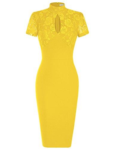 423c4ef2917a2 ... MUXXN Women s 1940 s Vintage Floral Lace Keyhole Bodycon Hot Pencil  Dress. Sale! 🔍. On Sale