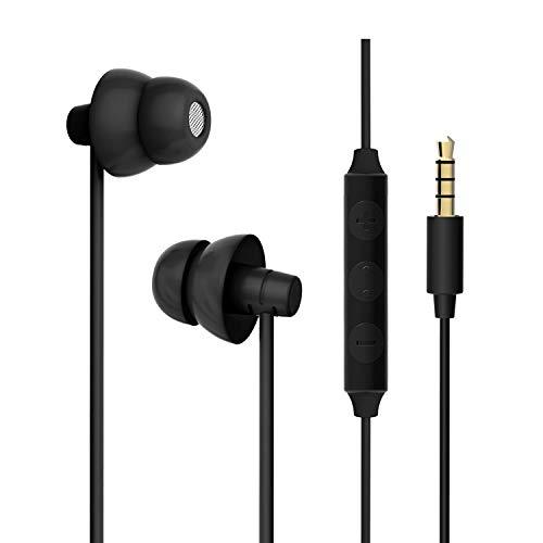 MAXROCK Sleep Earbuds, Ultra-Soft Comfortable Noise Isolating Earplugs Workout Headphones in-Ear Earphones w/Mic & Volume Control - Perfect for Side Sleeper Air Travel, Meditation & Insomnia