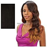 Saga Remy Deep Invisible L Part Lace Front Wig - Glamorous-1B
