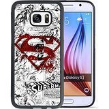 Samsung Galaxy S7 Case, Onelee Customized Superman Logo [Anti Slip] Black TPU and PC Samsung Galaxy S7 Case, [Drop Protection] Superman Galaxy S7 Case