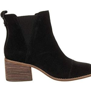 TOMS Womens Esme Heeled Boot Shoes 10013015 Black Suede 8