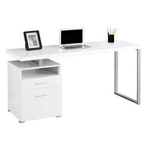 Monarch Metal Computer Desk, 60', White/Silver