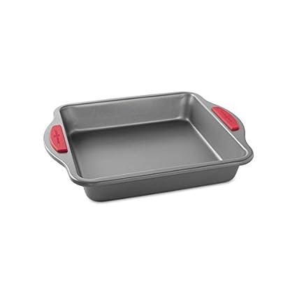 """Nordic Ware Freshly Baked Square Cake Pan, 9"""", Metallic"""