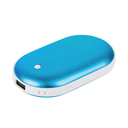 Cypers Double-Side Rechargeable Hand Warmer 5200mAh Portable Power Bank for iPhone, Samsung Galaxy and Android phone(Blue)