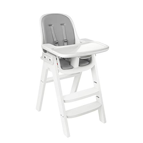 OXO Tot Sprout Chair with Tray Cover, Gray and White