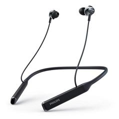 Philips Performance TAPN402BK Hi-Res Audio Bluetooth 5.0 in-Ear Neckband with IPX4 Splash-Proof Design, Vibration Mode, Quick Charge, 14 Hour Play Time and Built-in mic with Echo Cancellation (Black)