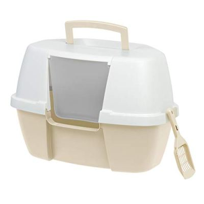 IRIS Jumbo Hooded Cat Litter Box with Cat Litter Scoop