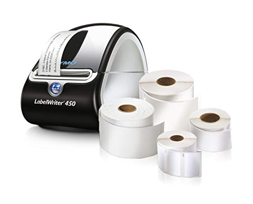 DYMO Label Printer | LabelWriter 450 Direct Thermal Label Printer, Great for Labeling, Filing, Shipping, Mailing, Barcodes and More, Home & Office Organization