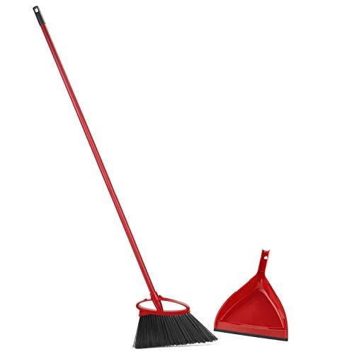 O-Cedar Angler Angle Broom/Dust Pan, Pack- 1, Red