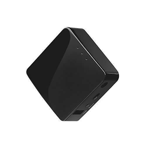 GL.iNet GL-AR300M Mini Travel Router, Wi-Fi Converter, OpenWrt Pre-installed, Repeater Bridge, 300Mbps High Performance, 128MB Nand flash, 128MB RAM, OpenVPN, Programmable IoT Gateway