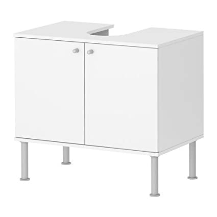 Ikea Fullen Mobile Base Per Lavabo Con 2 Ante Bianco 60x55 Cm