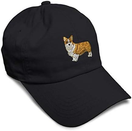 Soft Baseball Cap Pembroke Welsh Corgi Dog B Embroidery Pets Buckle Closure